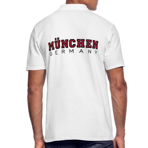 München Germany (Schwarz/Weiß) Deutschland - Männer Poloshirt