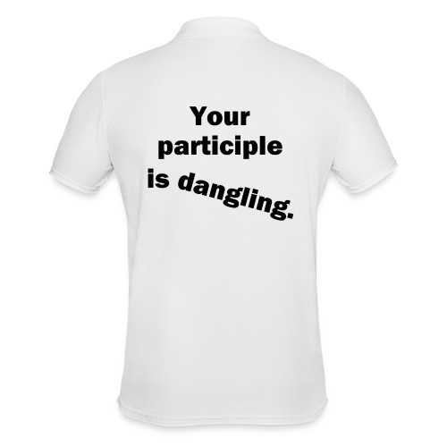 Dangling Participle Funny Grammar - Men's Polo Shirt