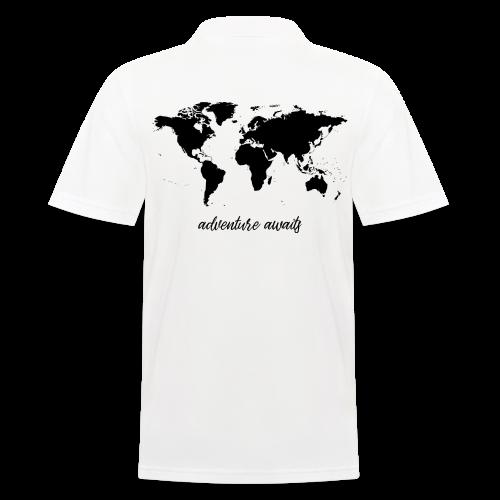 adventure awaits - Weltkarte - Männer Poloshirt