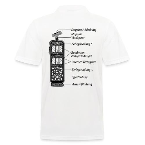 Feuerwerk Pyrotechnik Funktion - Männer Poloshirt