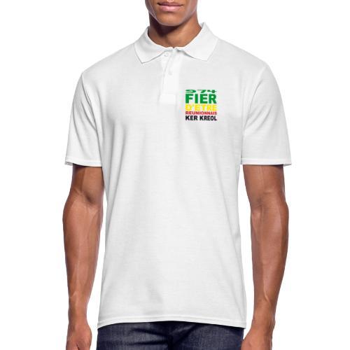 Logo fier d'etre kreol 974 ker kreol - Rastafari - Polo Homme