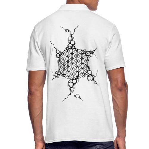 Flower Of Life Neuro Art 1 - Männer Poloshirt