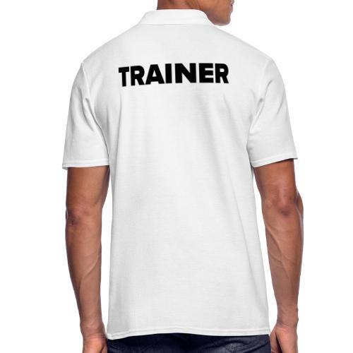 Workout Trainer Tshirt - Männer Poloshirt