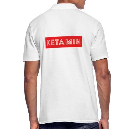 KETAMIN Rock Star - White/Red - Modern - Men's Polo Shirt