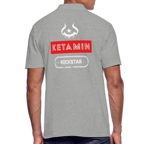 KETAMIN Rock Star - Weiß/Rot - Modern - Men's Polo Shirt