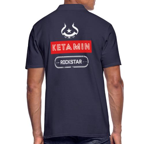 KETAMIN Rock Star - Weiß/Rot - Modern - Men's Polo Shirt
