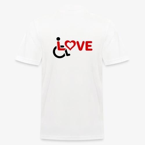 > Rolstoel liefde, rolstoelgebruiker, roller - Mannen poloshirt