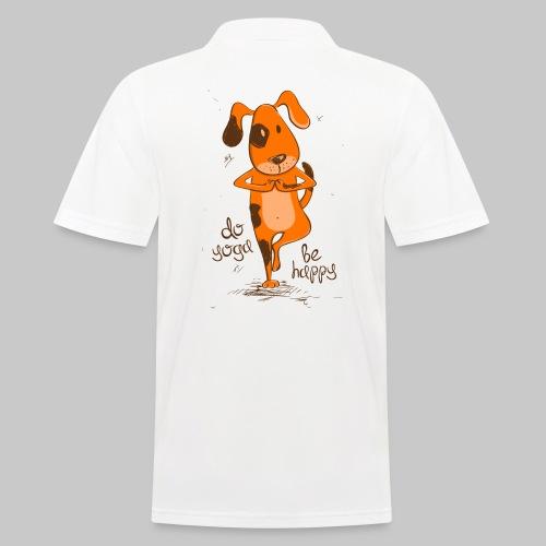 yoga dog - Männer Poloshirt