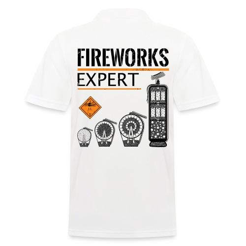 Feuerwerk Experte Pyro Silvester - Männer Poloshirt