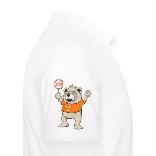 FUPO der Bär. Druckfarbe bunt - Männer Poloshirt