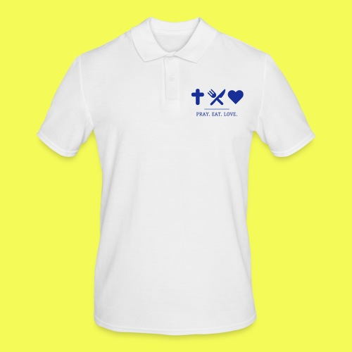 khg shirts prayeatlove blau 0101 - Männer Poloshirt