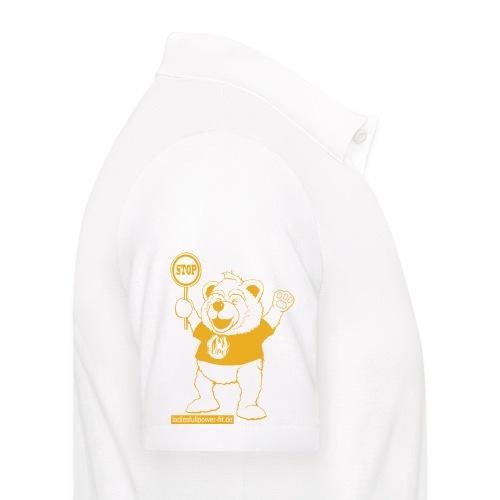 FUPO der Bär. Druckfarbe Orange - Männer Poloshirt