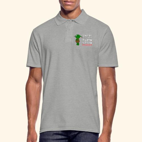 Zwergschlammelfen gegen Rassismus (weiße Schrift) - Männer Poloshirt