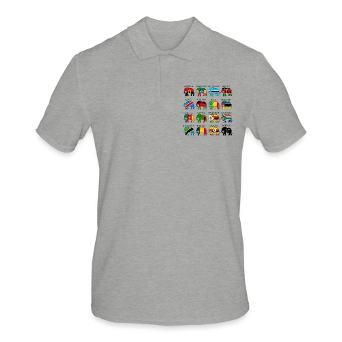 ELEFANTEN AFRIKAS mit Flaggen - Männer Poloshirt