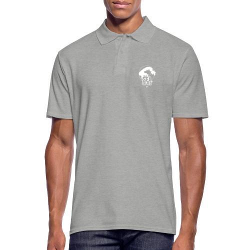 Sea of red logo - white small - Men's Polo Shirt
