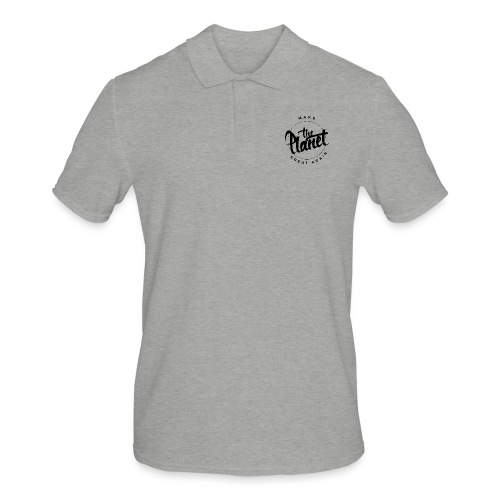 MakeThePlanetGreatAgain Organic Shirt White - Men's Polo Shirt