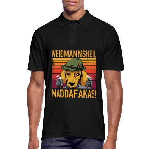 Weidmannsheil Maddafakas! Dackel Jäger Vintage fun - Männer Poloshirt