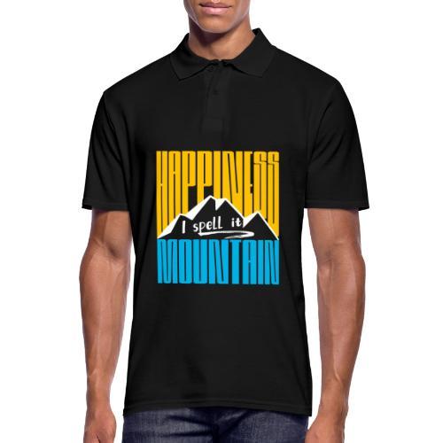 Happiness I spell it Mountain Outdoor Wandern Berg - Männer Poloshirt