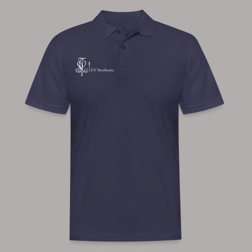 Zirkel mit Name, weiss (vorne) - Männer Poloshirt