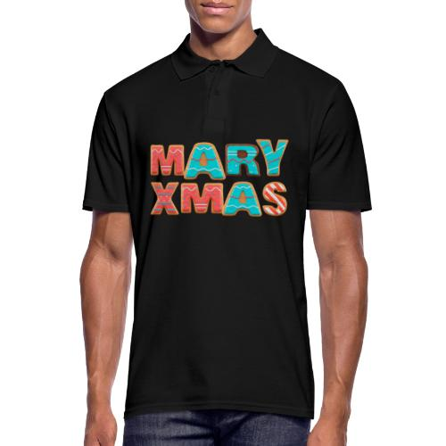 Mary Xmas - Maria Weihnachtsgeschenk - Männer Poloshirt