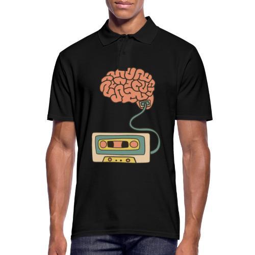 Musikkassette am Gehirn - Männer Poloshirt
