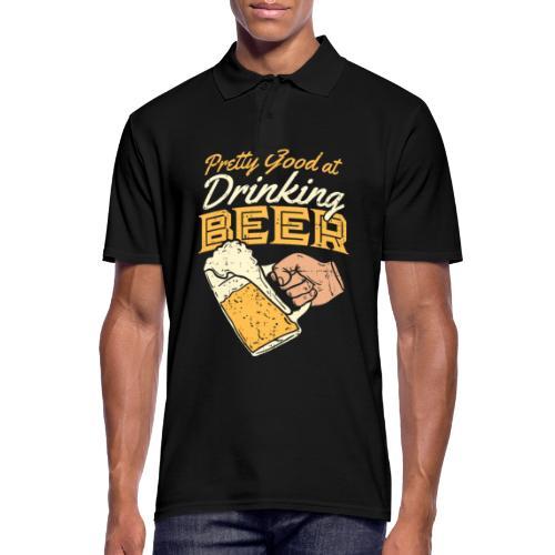 drinking Beer - Männer Poloshirt
