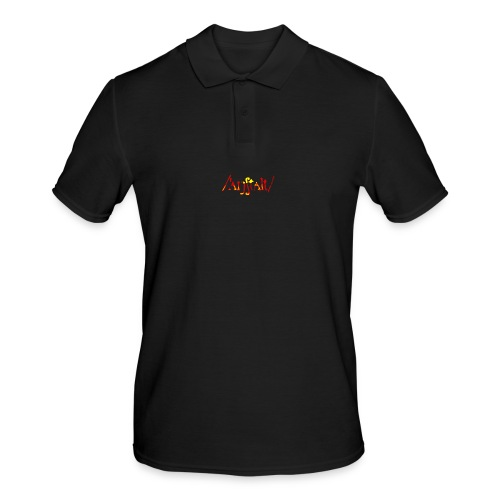 logo gerastert (flamme) - Männer Poloshirt
