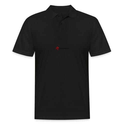 SportsNow-Logo mit schwarzer Schrift - Männer Poloshirt