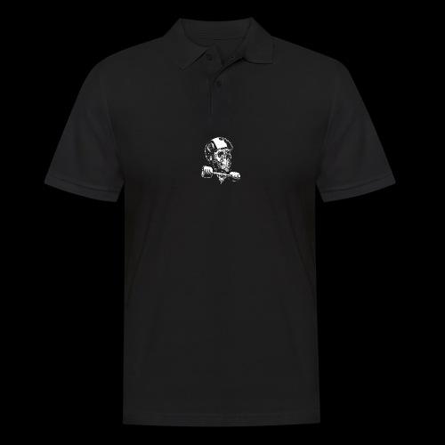 Skull Longboard Rider - negative print - Polo Homme