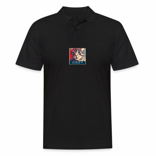 Obey the Cat! - Männer Poloshirt