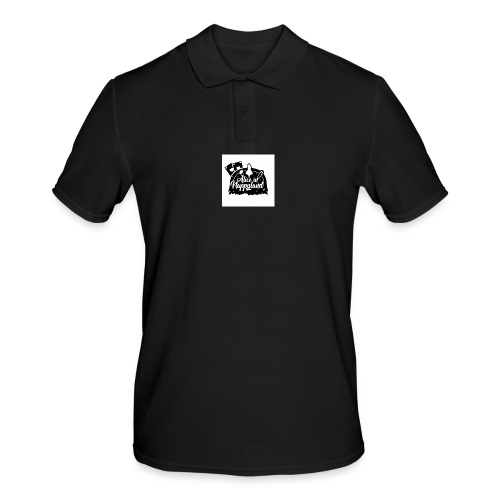 Alice in Nappyland TypographyWhite with background - Men's Polo Shirt