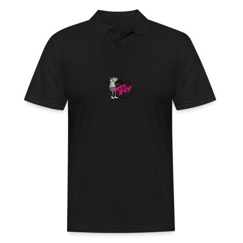 Hey Ray! Logo magenta - Männer Poloshirt