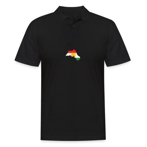 Kurdistan Flag Map - Männer Poloshirt