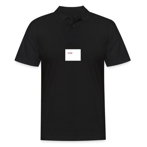 nee t-shirts - Mannen poloshirt
