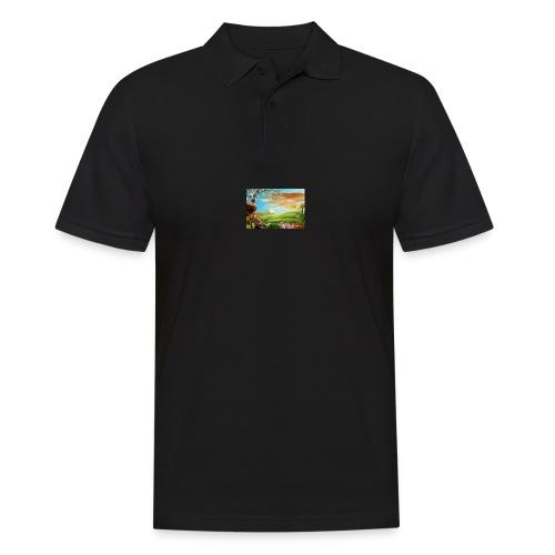 bob ross - Männer Poloshirt