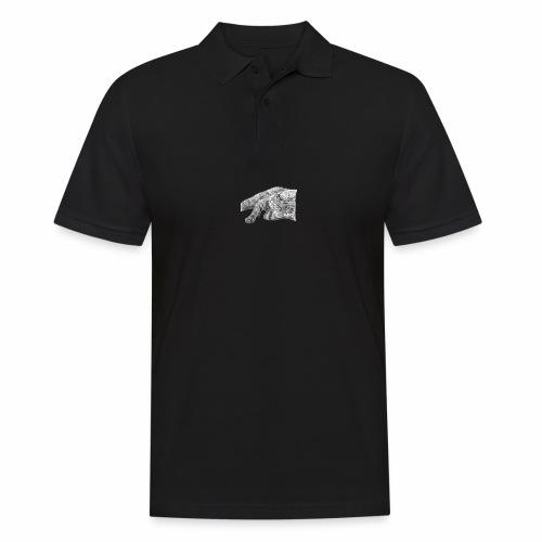 Small kitten in gray pencil - Men's Polo Shirt