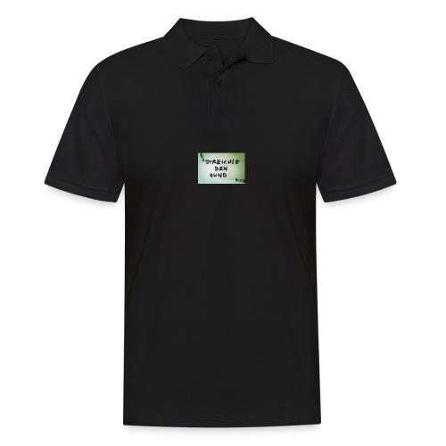 Streichle den Hund - Männer Poloshirt
