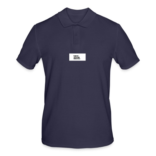 if your not smiling your doing it wong - Men's Polo Shirt