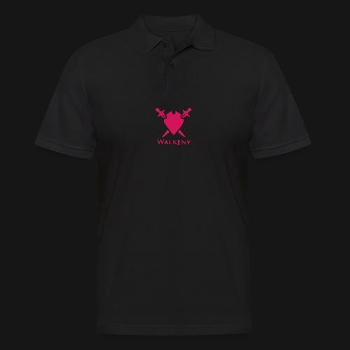 Das Walkeny Logo mit dem Schwert in PINK! - Männer Poloshirt