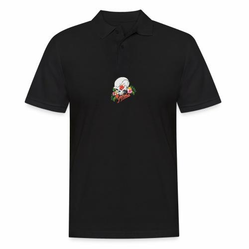 Hawaiian Skull Aloha Surfer Design - Männer Poloshirt