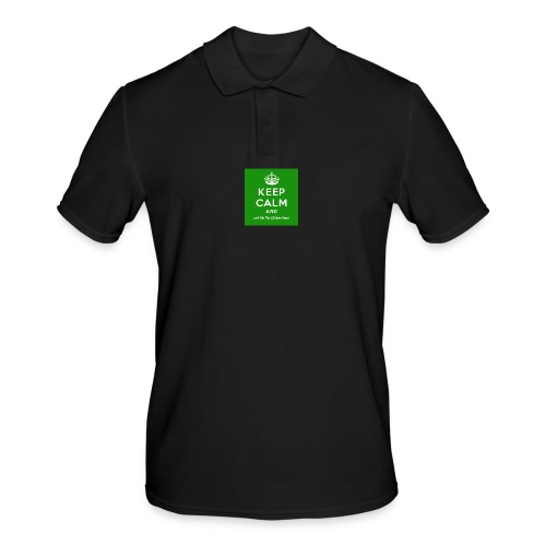Keep Calm and Get The Chicken Sarni - Green - Men's Polo Shirt