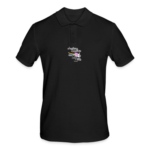 Anything Is Possible if you lie hard enough - Men's Polo Shirt