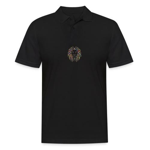 Ausdruck des Löwen - Männer Poloshirt