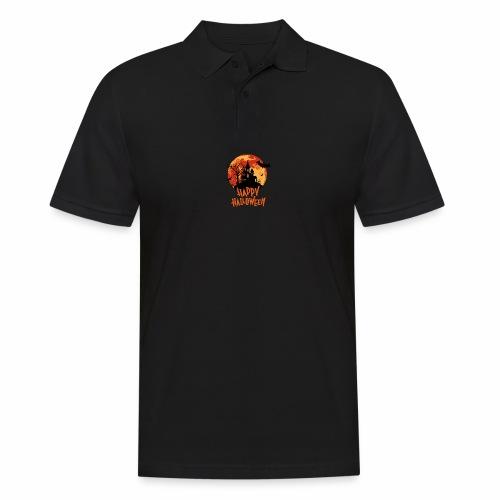 Bloodmoon Haunted House Halloween Design - Männer Poloshirt