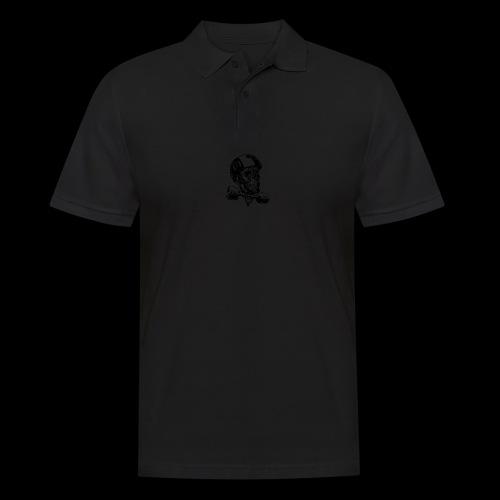 Skull Longboard Rider - positive print - Polo Homme