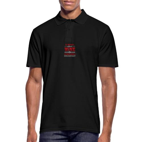 Food requires wine - Funny wine gift idea - Men's Polo Shirt