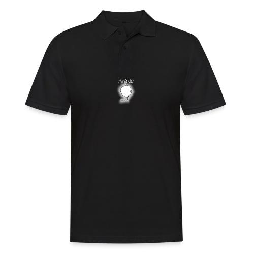 kreisling mit logo (weiß) - Männer Poloshirt