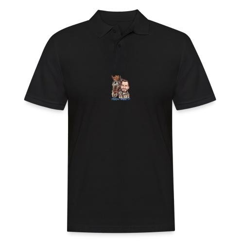 Pferde-Hoschi Kollektion hinten - Männer Poloshirt