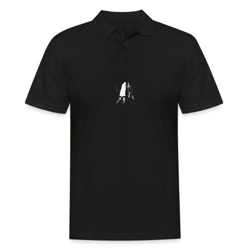 howling geometric wolf - Männer Poloshirt