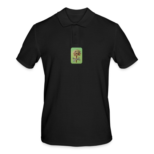 oil painting of skull and bones - Mannen poloshirt